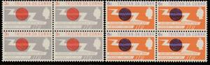 TRISTAN DA CUNHA 1965 ITU set blocks of 4 MNH..............................65990