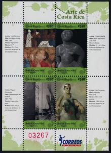 Costa Rica 621 MNH Art, Paintings