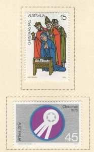 AUSTRALIA Scott 626-627 MH* Christmas 1975 set