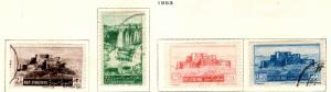 Syria Scott 374-377 used set 1953 issue