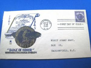 U.S. FDC - SCOTT # 940 -  BADGE OF HONOR