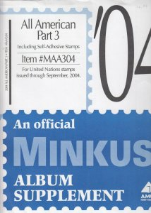Minkus Album Supplement All American Part 3 United Nations Stamps 2004