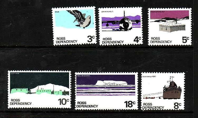 Ross Dependency-Sc#L9-14- id7-unused NH set-Ships,Planes-Scott base-1972-