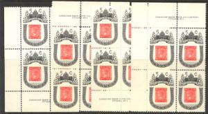 Canada - 1962 Victoria Centenary Plate Blocks mint #399i