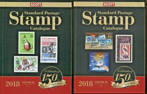 Scott 2018 Standard Postage Stamp Catalogue Vol. 4A & 4B - Countries J-M