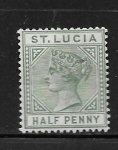 ST. LUCIA, 27, MINT HINGED HINGE REMNANT, QUEEN VICTORIA