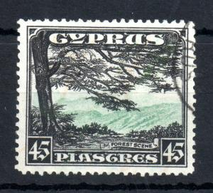 Cyprus KGV 1934 45pi SG#143 good used Cat Val £90 WS13364