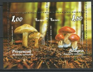 Bosnia and Herzegovina 2020 Mushrooms MNH Block