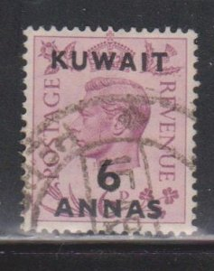 KUWAIT Scott # 78 Used - KGVI Stamp Of Great Britain With Overprint