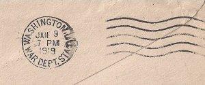 #U436a used NOV 19 1918 to Engineering Dep AEF in DC, WAR DEPT. STA. cnl REVERSE