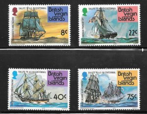 British Virgin Islands  (1976)  - Scott # 309 - 312, MNH
