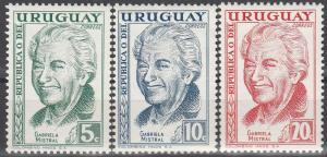 Uruguay #640-42 MNH (S2757L)