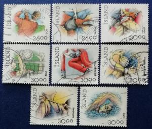 Iceland Sports Stamps Scott # 706-711B Used (I690)