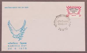 India # 689 , Namibia Day FDC - I Combine S/H
