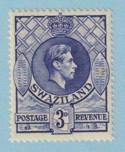 SWAZILAND sg 32d 13.5x14 deep blue MINT HINGED OG * NO FAULTS VERY FINE!