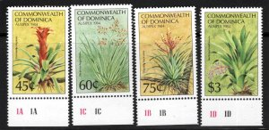 DOMINICA Scott 847-850 MNH** Ausiepex 1984 Flower set