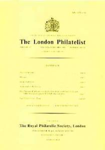 Literature - London Philatelist Vol 92 Number 1081-82 dat...