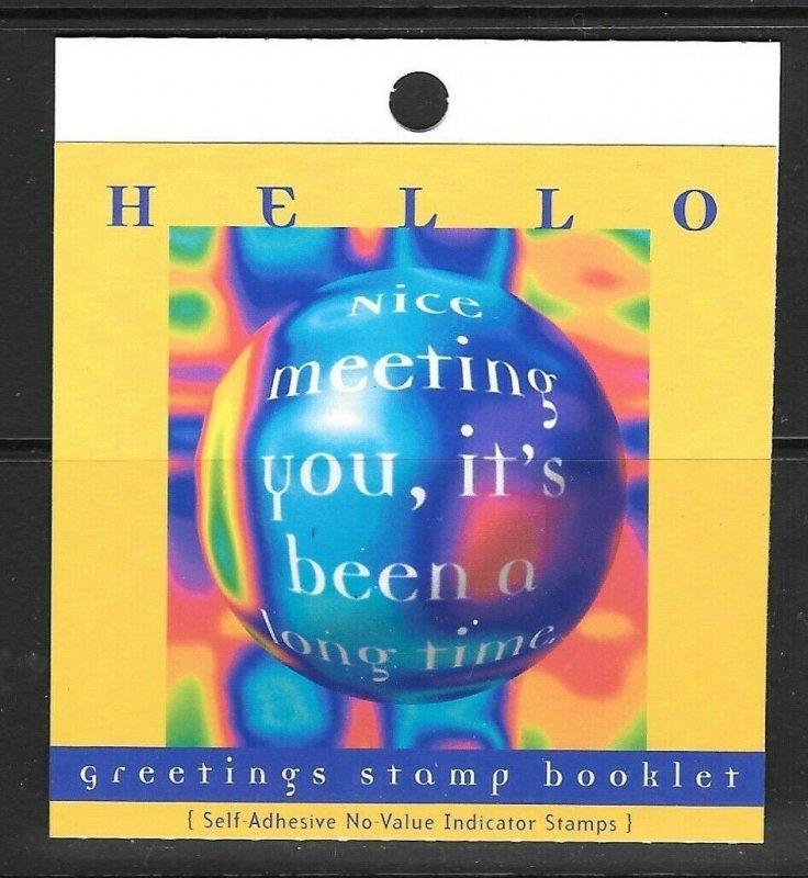 SINGAPORE SGSB33 1998 GREETINGS BOOKLET MNH
