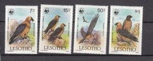 J27499 1986 lesotho set mh #512-5 birds WWF