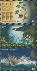 Pitcairn Islands 1969 SG98-100 Plant Bay Longboat MNH