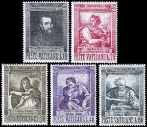 Vatican City 1964 Sc 387-91 MNH VF
