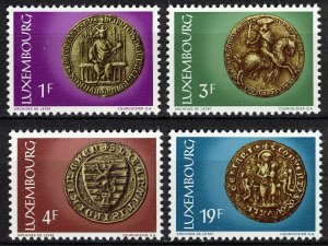 Luxembourg MNH 542-5 Seals Of 13th & 14th Centuries 1974
