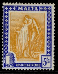 MALTA GV SG137, 5s orange-yellow & bright ultramarine, LH MINT. Cat £22.