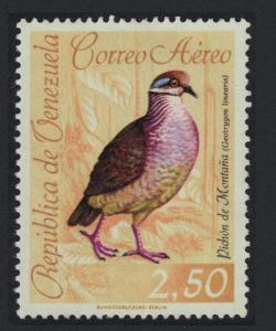 Venezuela Lined Quail dove Bird 2.50B KEY VALUE 1962 Canc SC#C818 SG#1762