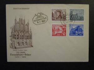 Germany DDR SC# 151 / 154 on 1953 FDC / Unaddressed / Cacheted - Z4520