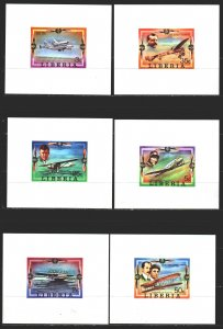 Liberia. 1978. 1047B-52B, bl88B + 6 suites. Aviation History. MNH.