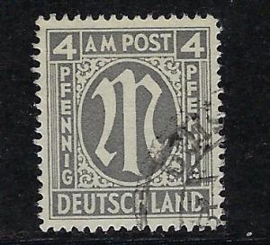 Germany AM Post Scott # 3N3b, used