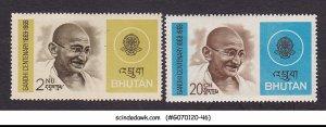 BHUTAN - 1969 GANDHI CENTENARY - 2V - MINT NH