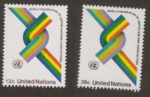 United Nations 272-273 New York World Federation of UN Associations set MNH 1976