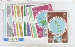 NEW HEBRIDES BRITISH # 238-250 VF-MNH COMPLETE SET CAT VALUE $17.75