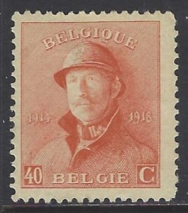 Belgium, Scott #132; 40c King Albert, MH