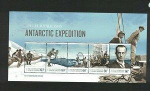 AAT100) Australian Antarctic Territory 2014 Expedition Part IV Minisheet MUH