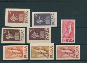 Poland 1955 Treaty Russo Proba Proofs Overprinted MNH (BKA 2148