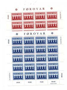 Faroe Island 1984  Europa sheets Mint VF NH - Lakeshore Philatelics