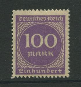 Germany -Scott 229 - Definitive Issues -1922 -  MLH - Single 100m Stamp