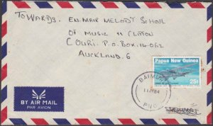 PAPUA NEW GUINEA 1984 cover to NZ ex BAIMURU................................B383