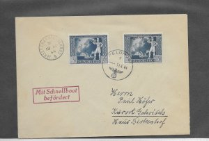 JERSEY 1944 FELDPOST COVER WITH SPEEDBOAT CACHET