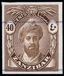 Zanzibar Scott 207 Variety Gibbons 316 Variety Proof Stamp