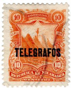 (I.B) Nicaragua Telegraphs : 10c Orange