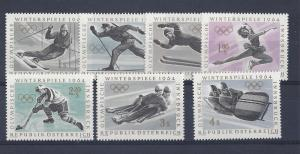 Austria, 711-17, Winter Olympics 1964 Singles, **MNH** (LL2018)