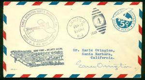 #UC1 FDC CACHET SIGNED BY EARLE NY-ATLANTA ROUTE BL6540