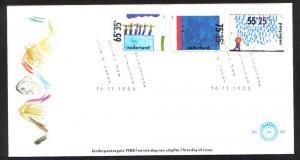 Netherlands 1988  FDC 260 child welfare