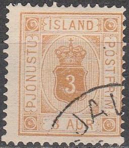 Iceland #O4  F-VF Used CV $82.50