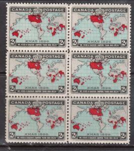 Canada #86 NH Mint Block Of Six