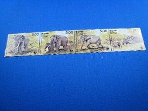SRI LANKA  -  SCOTT # 803  -  ANIMALS STRIP    MNH  (ss108)