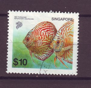 J25476 JLstamps 2002 singapore hv of set used #1021 fish